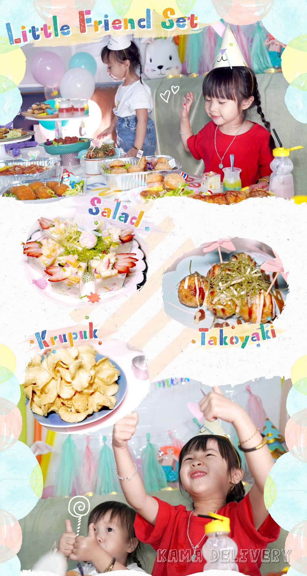 Little Friend Set (For 6-8 Persons)|小朋友生日派對到會|Kama Delivery美食到會外賣推介